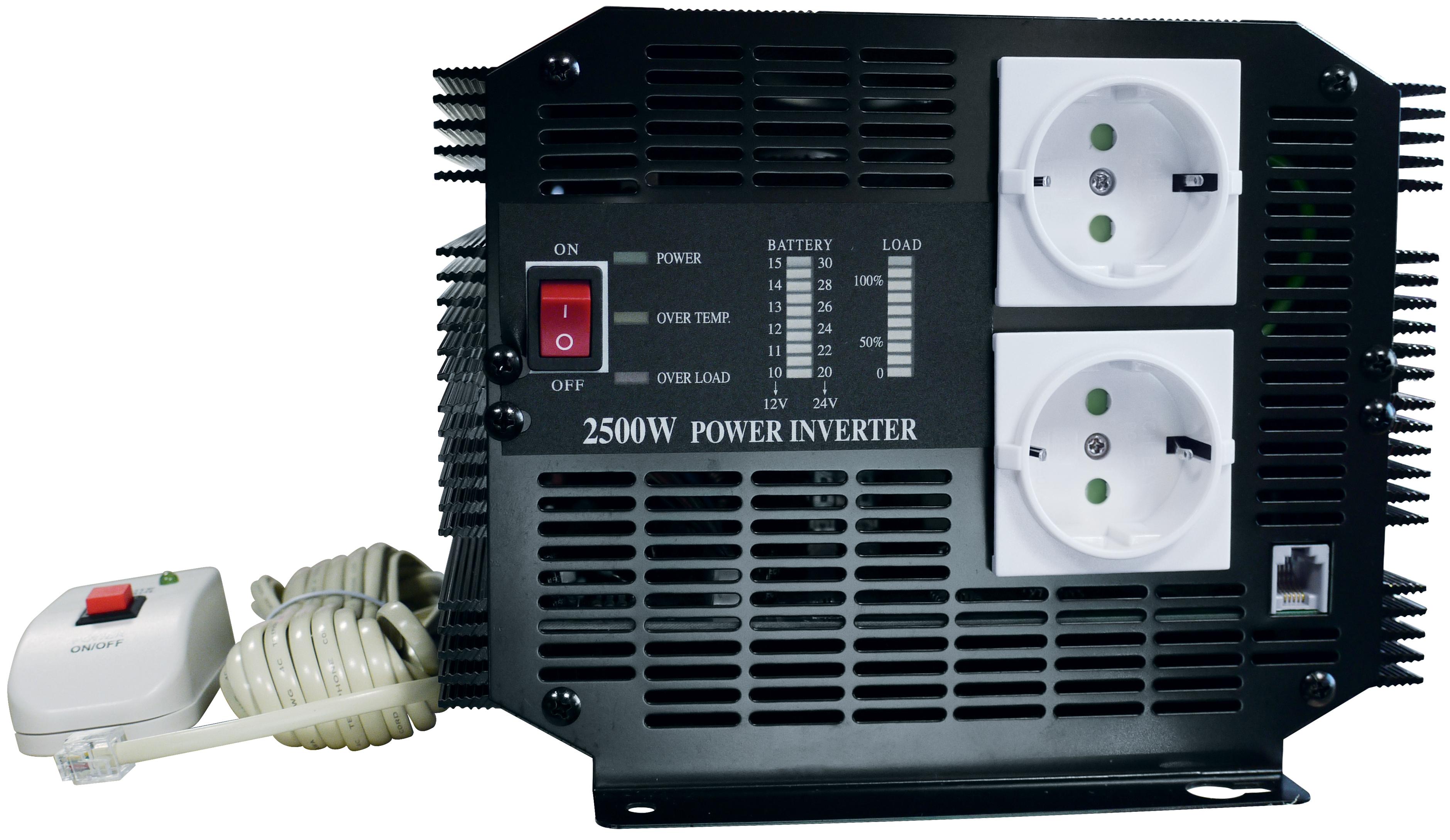 Convertisseur 24 V / 220 V - 2500 W